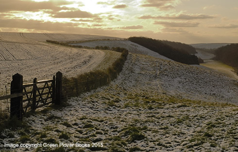 Lincolnshire Farforth Wold valley snow