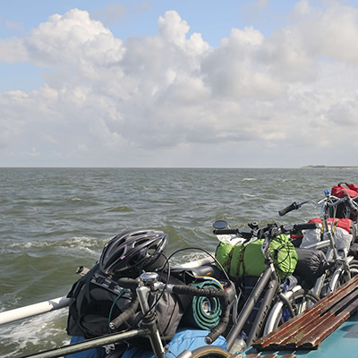 Bicycles on Vlieland ferry