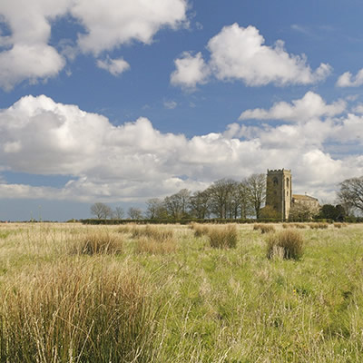 Skidbrooke church Lincolnshire Marsh